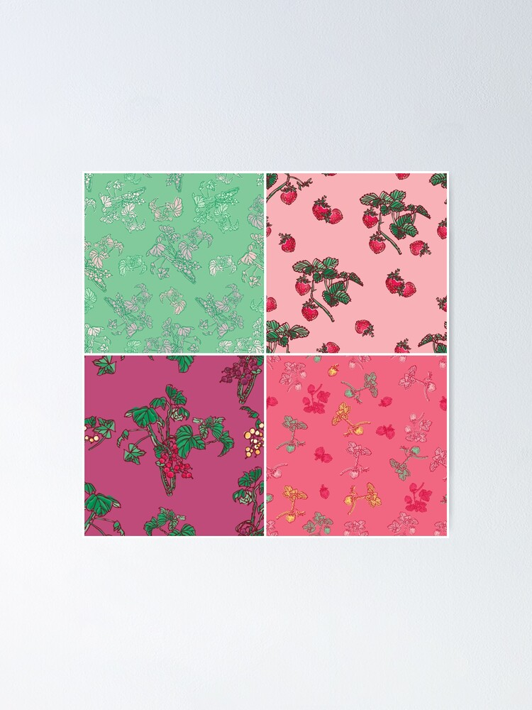 Alternate view of Decorative Berries Pattern Collection Poster