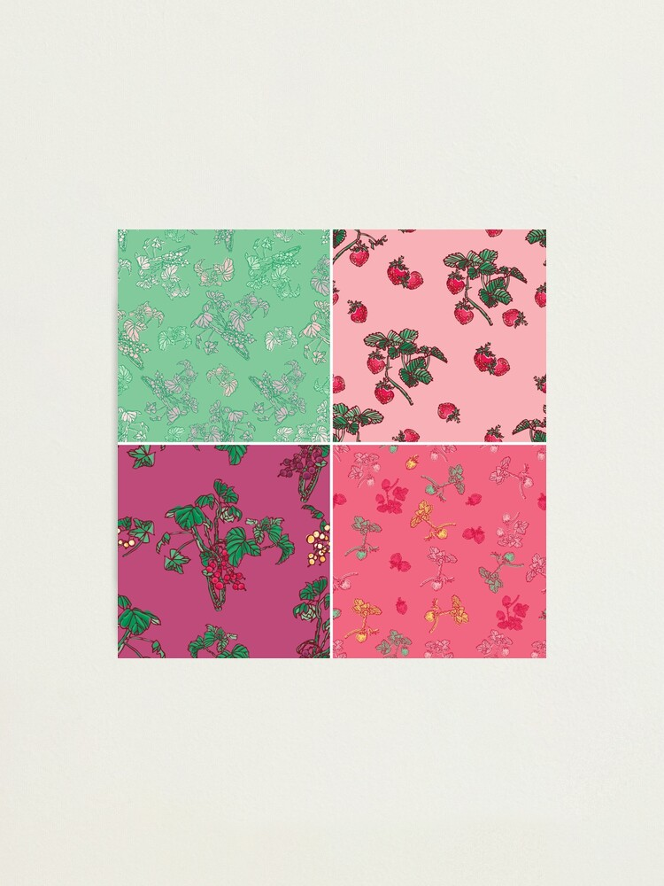 Alternate view of Decorative Berries Pattern Collection Photographic Print