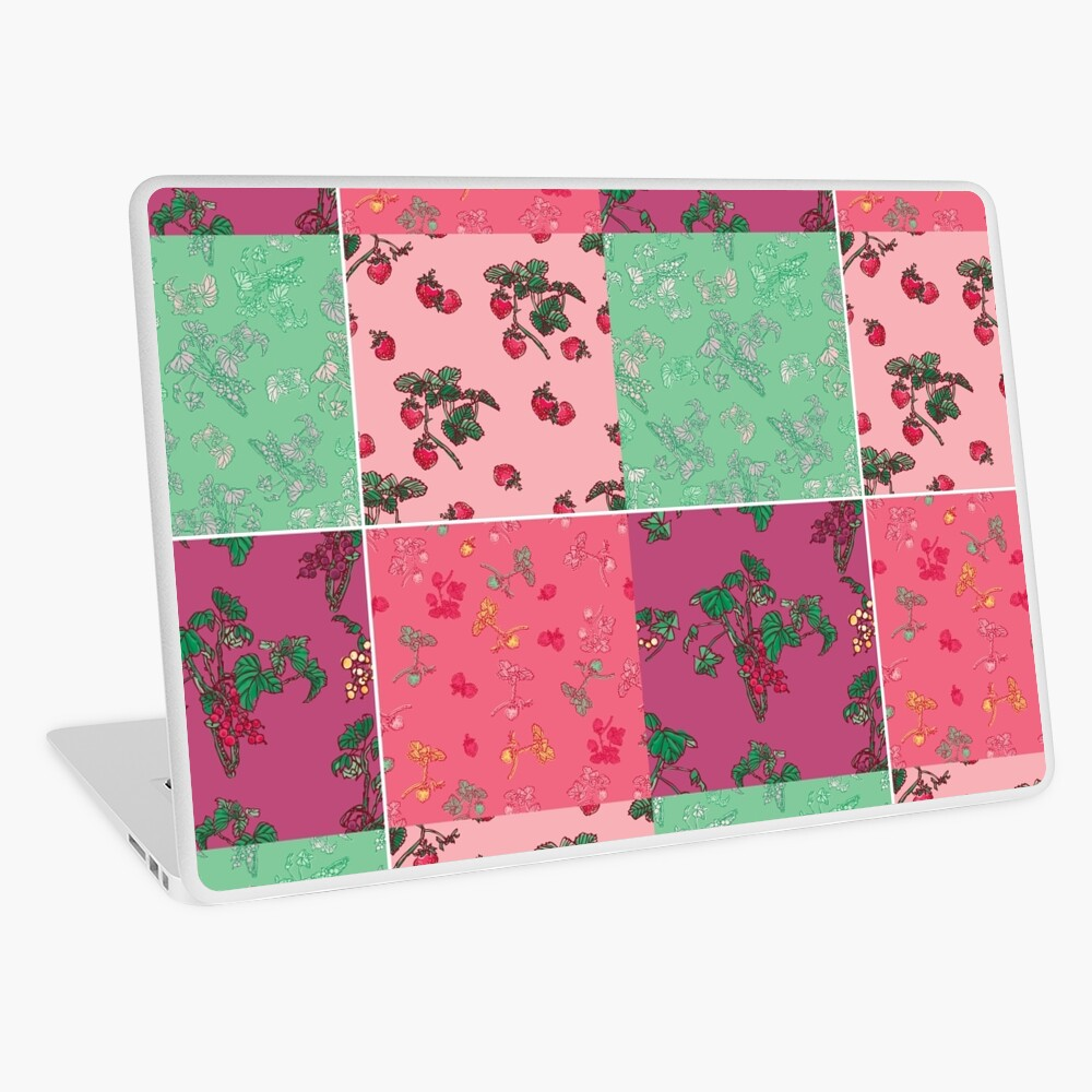 Decorative Berries Pattern Collection Laptop Skin