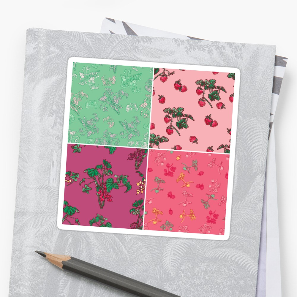 Decorative Berries Pattern Collection Sticker