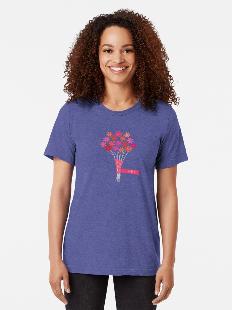 Alternate view of Flowers for You! Tri-blend T-Shirt
