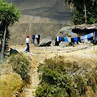 Laundry Day High In The Andes by Al Bourassa
