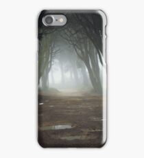 Path in a Magic forest with mist iPhone Case/Skin