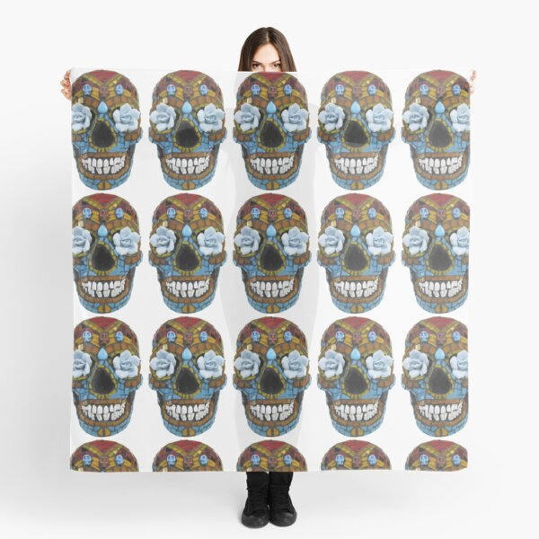 Day of the Dead Concrete Skull Scarf