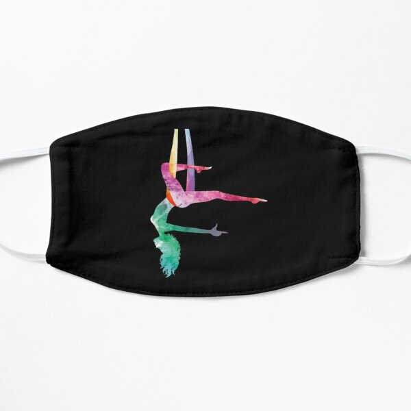 Aerial Yoga Acrobatic Sport Aerialist Gymnastics Watercolor Workout Flat Mask