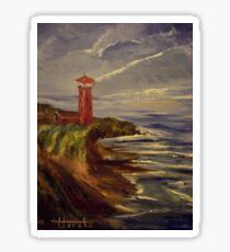 A red lighthouse Sticker
