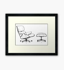 Eames Lounge Chair Framed Print