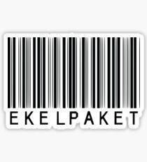 Strichcode Ekelpaket Sticker