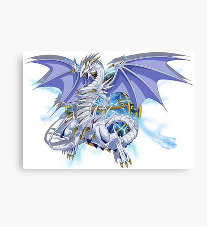 Blue-Eyes Spirit Dragon Canvas Print
