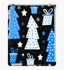 Blue playful Xmas iPad Case/Skin