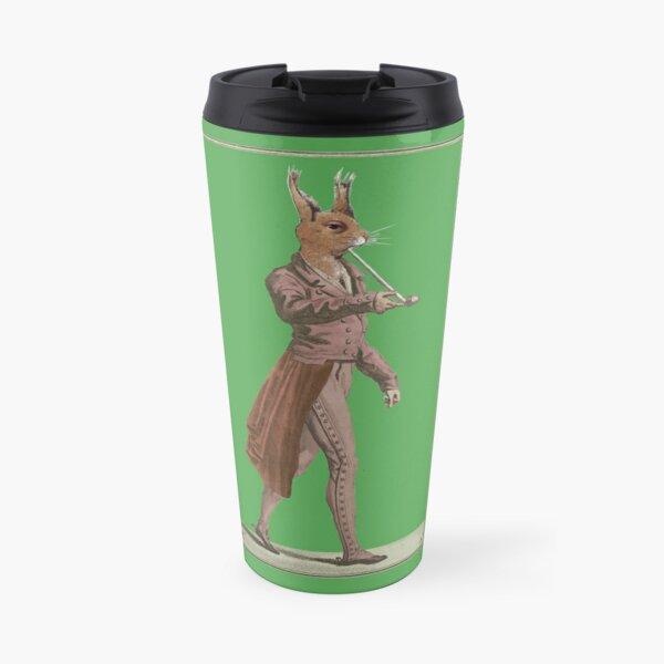 Red squirrel vintage collage art Travel Mug
