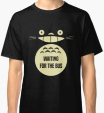 Waiting For The Bus Totoro  Classic T-Shirt