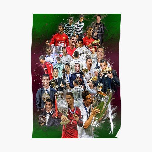Cristiano Ronaldo (Du Portugal de Sporting de Lisbonne au Real Madrid) + Trophées du Portugal NT + Poster