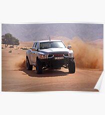 Ram Baja truck tearing through UAE desert Poster