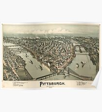 Vintage Pictorial Map of Pittsburgh (1902) Poster