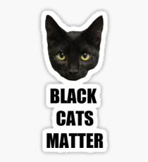 Black Cats Matter Sticker