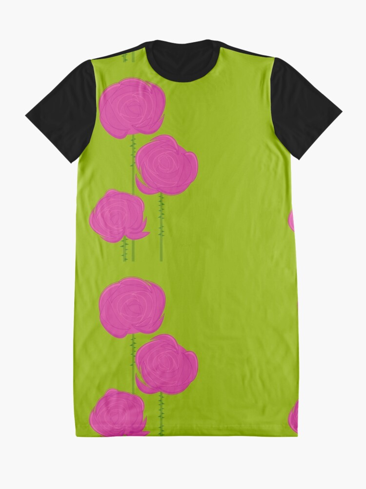 Alternate view of Pink Roses Graphic T-Shirt Dress