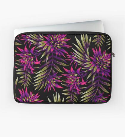 Fasciata Tropical Floral - Purple / Gold Laptop Sleeve