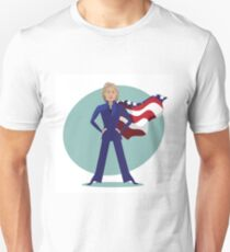 cartoon of Hillary Clinton as a super hero. T-Shirt