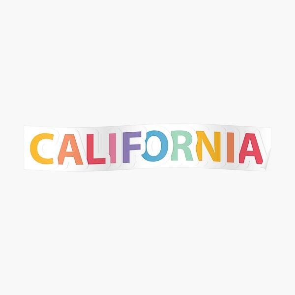 California Rainbow Poster