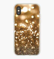 Gold Glitter Bokeh iPhone Case