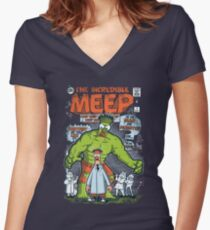 Incredible Meep Women's Fitted V-Neck T-Shirt