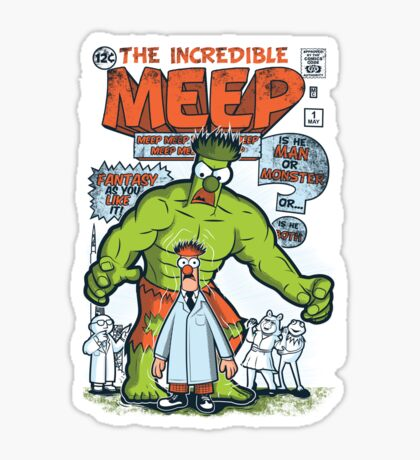 Incredible Meep Sticker