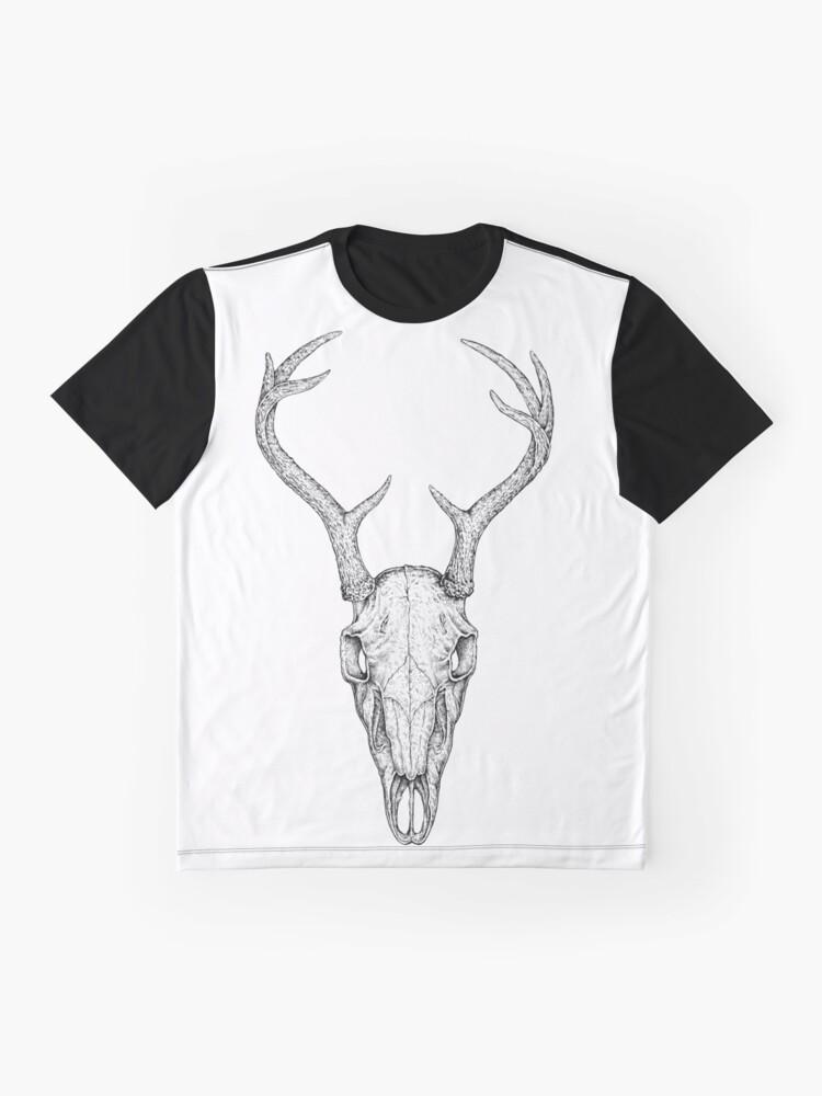 Alternate view of Deer Skull Graphic T-Shirt