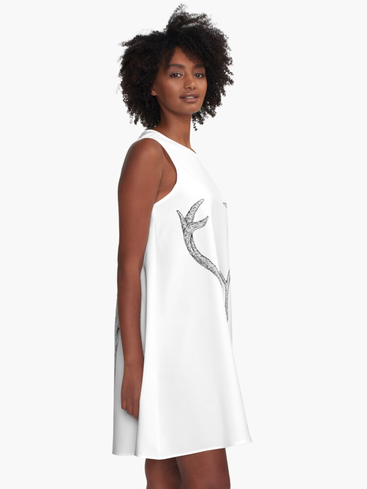 Alternate view of Deer Skull A-Line Dress