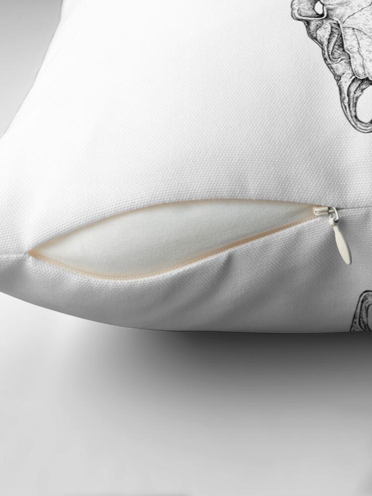 Alternate view of Deer Skull Throw Pillow
