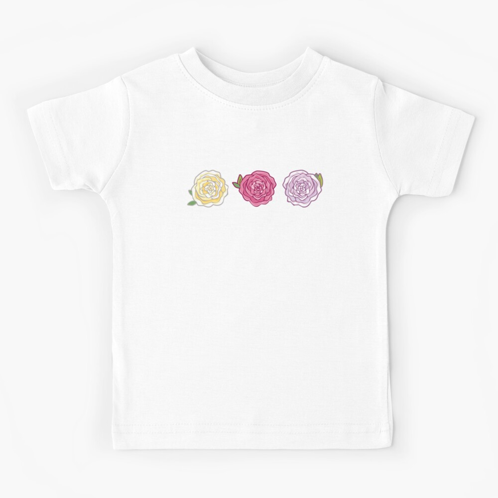 Decorative Roses Kids T-Shirt