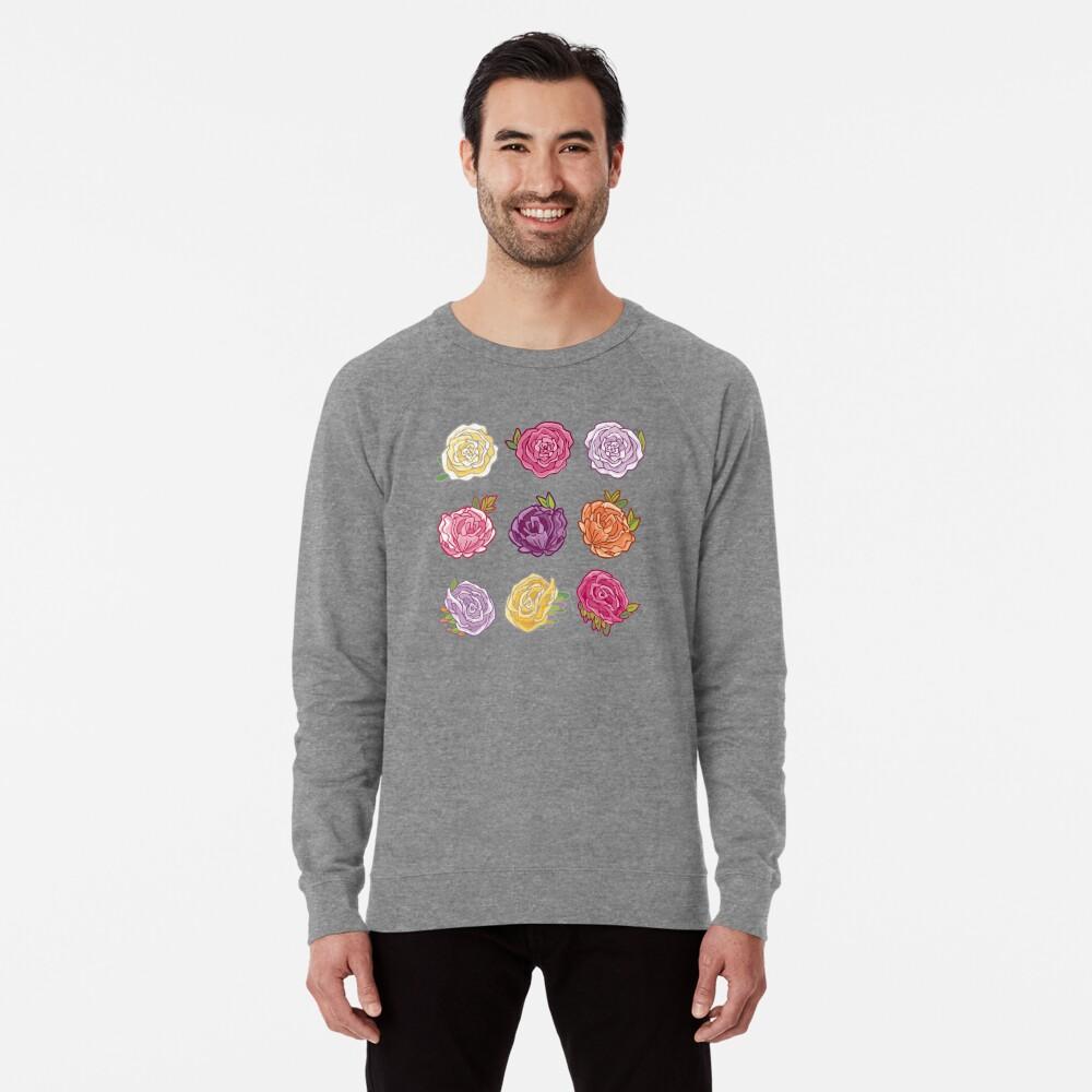 Decorative Roses Lightweight Sweatshirt