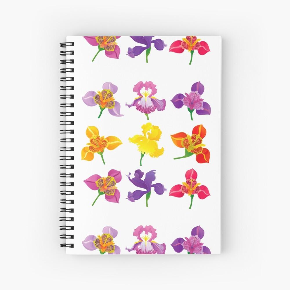 Tigridia & Iris Spiral Notebook