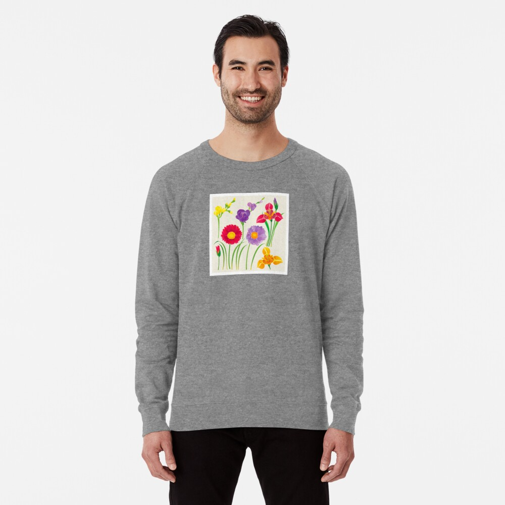 Spring Flowers Lightweight Sweatshirt