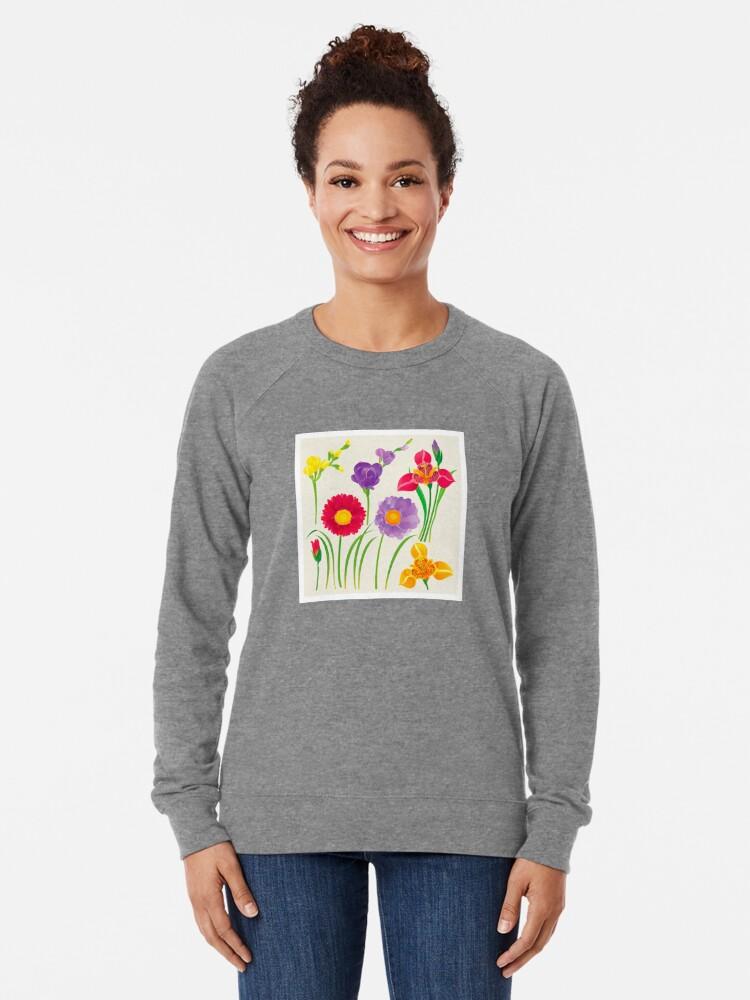 Alternate view of Spring Flowers Lightweight Sweatshirt