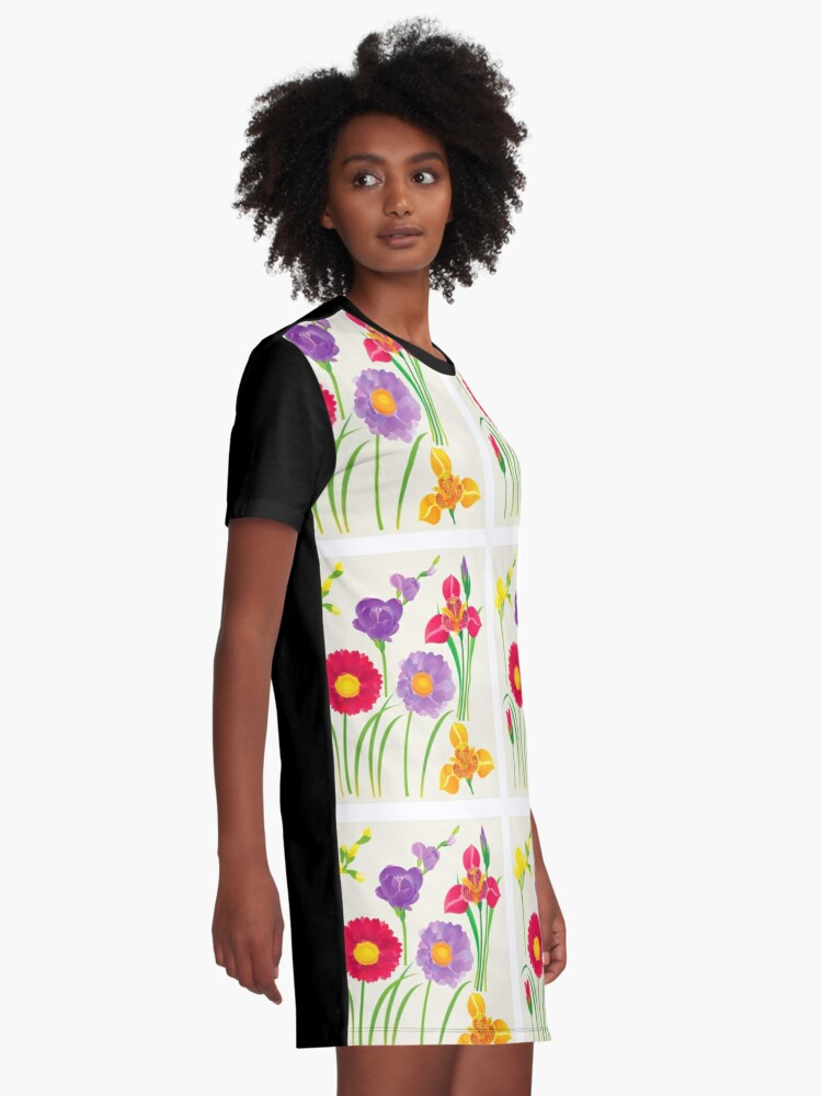 Alternate view of Spring Flowers Graphic T-Shirt Dress