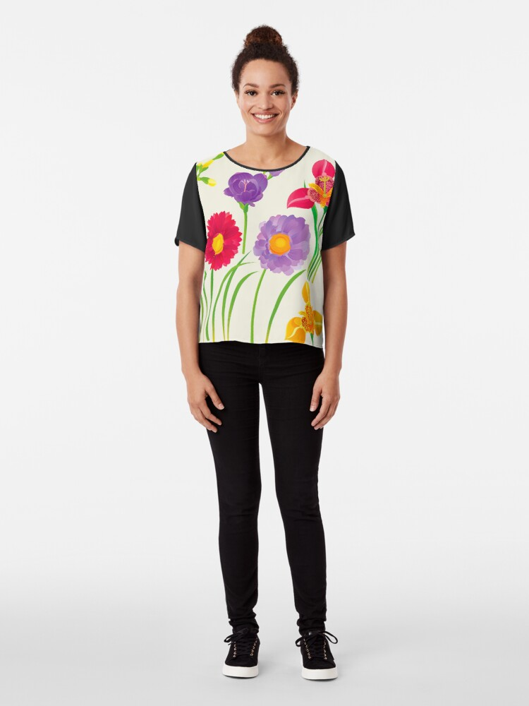 Alternate view of Spring Flowers Chiffon Top