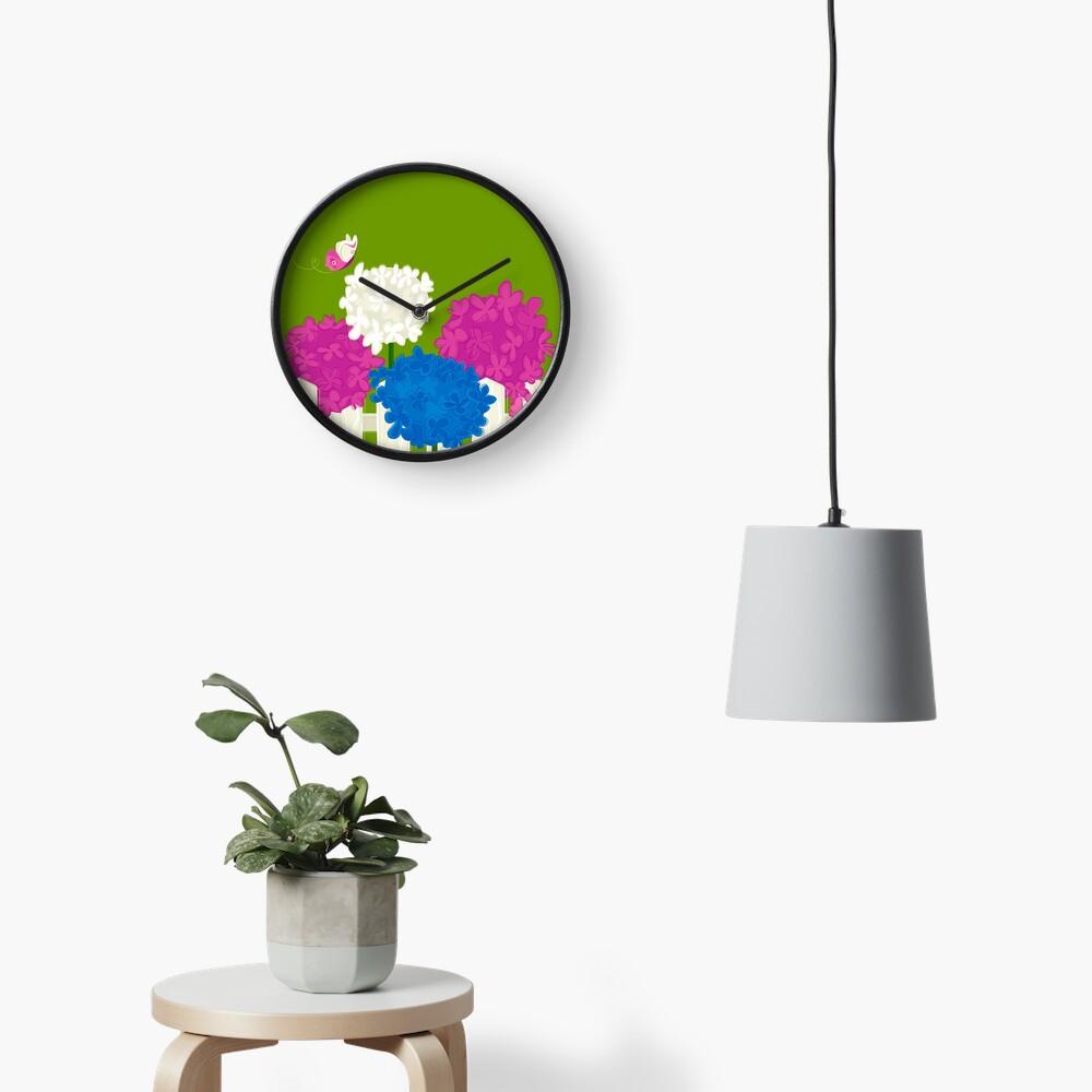 Flower Garden Clock