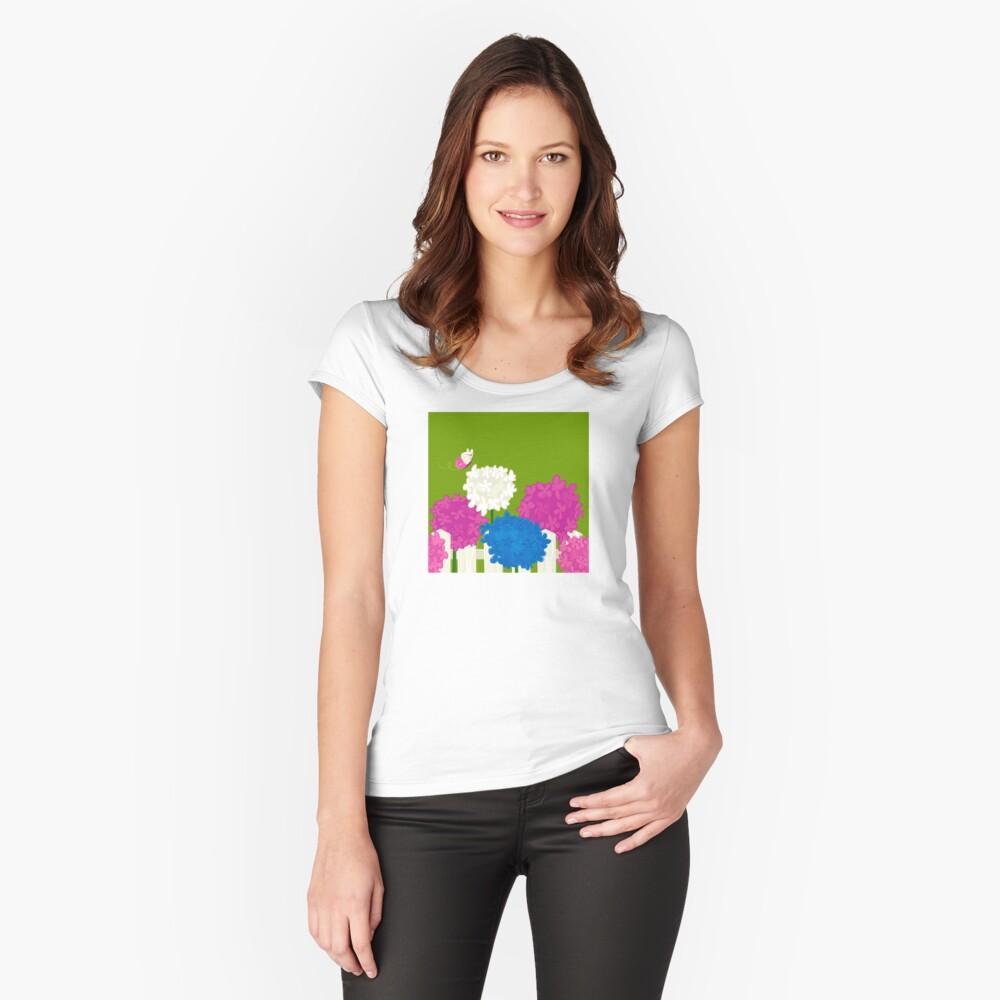 Flower Garden Fitted Scoop T-Shirt