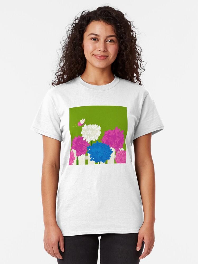 Alternate view of Flower Garden Classic T-Shirt