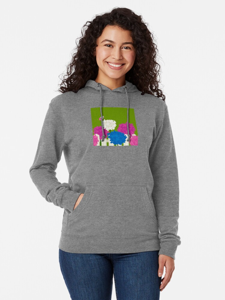 Alternate view of Flower Garden Lightweight Hoodie