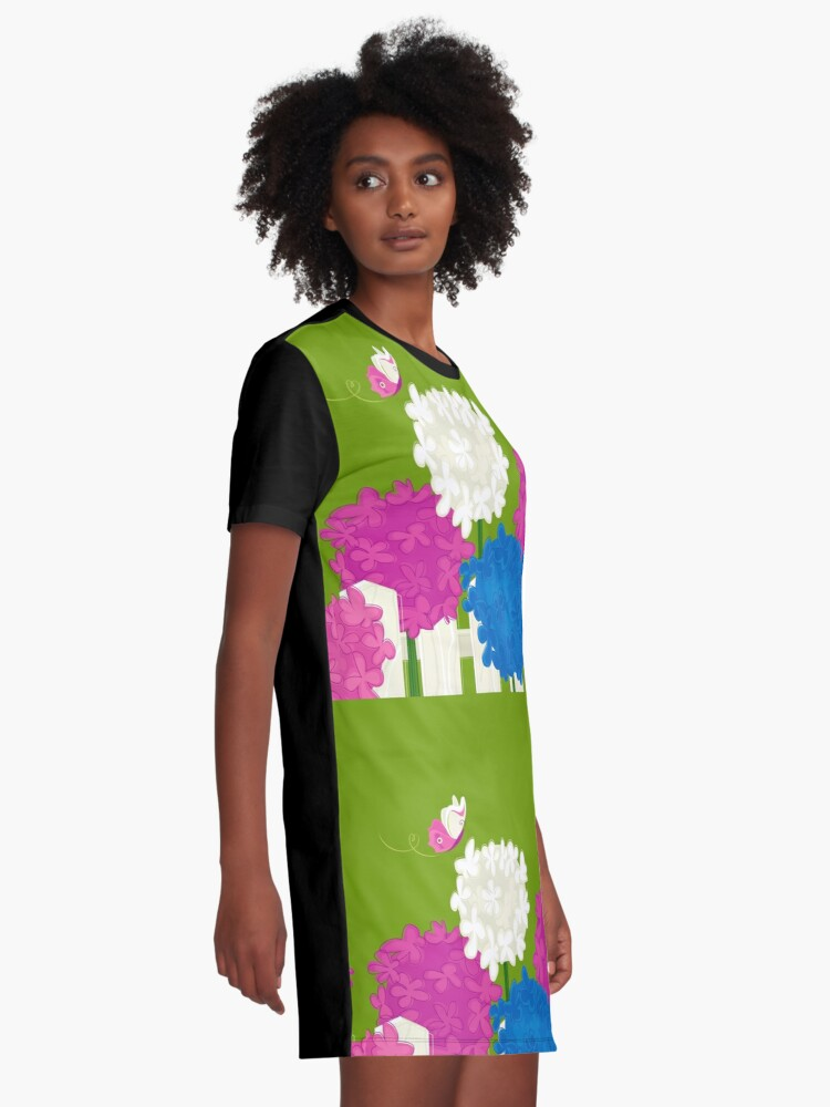 Alternate view of Flower Garden Graphic T-Shirt Dress