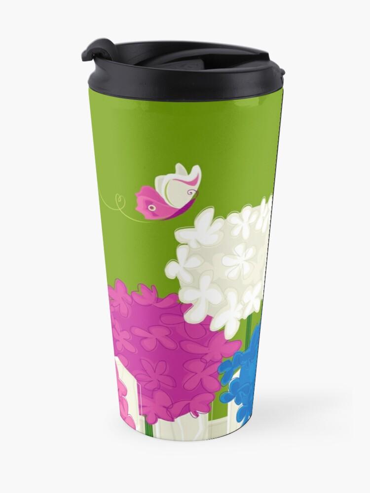 Alternate view of Flower Garden Travel Mug
