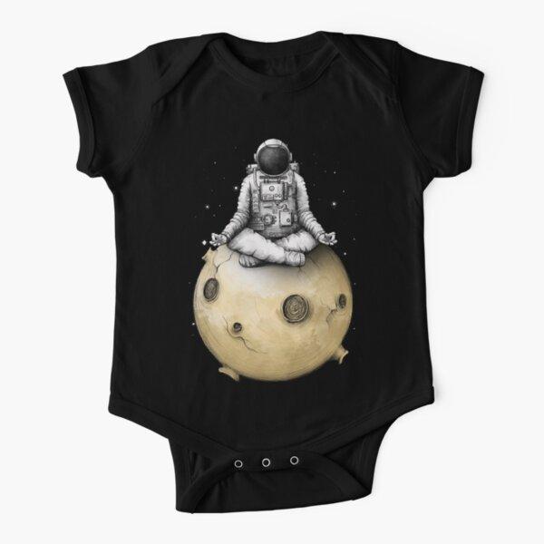 Astronaut Meditation Space Yoga 21 Short Sleeve Baby One-Piece