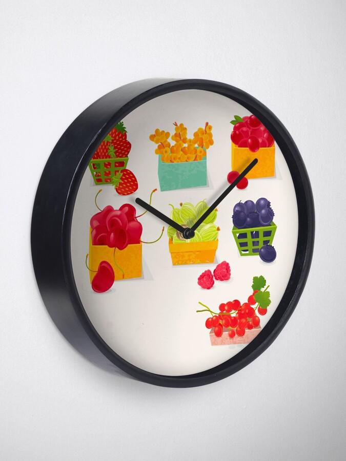 Alternate view of Sweet Berries Clock