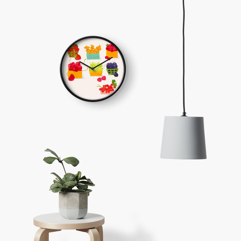 Sweet Berries Clock