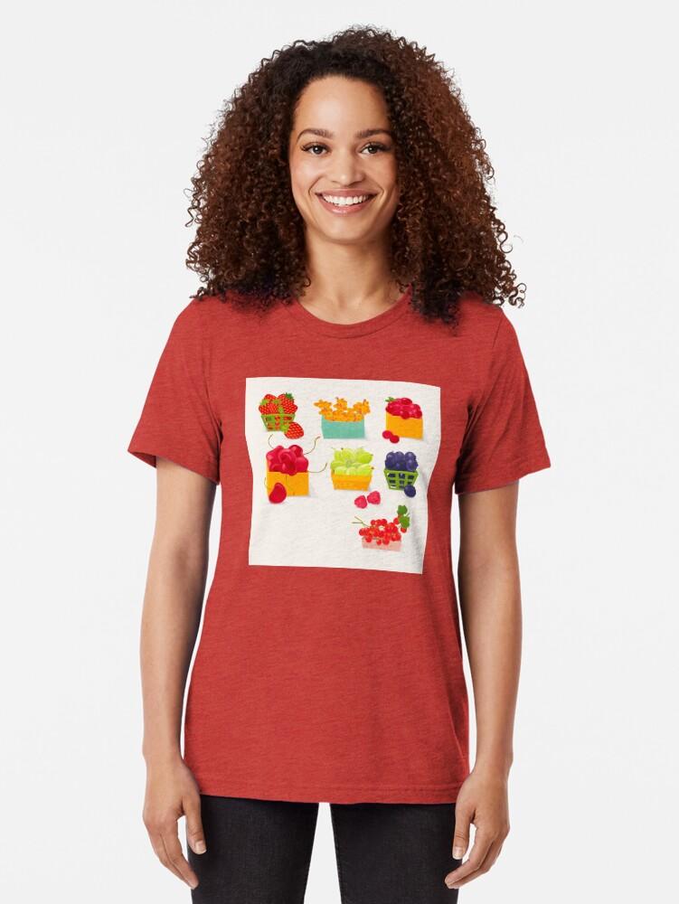 Alternate view of Sweet Berries Tri-blend T-Shirt