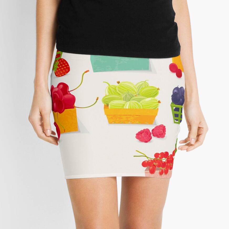 Sweet Berries Mini Skirt