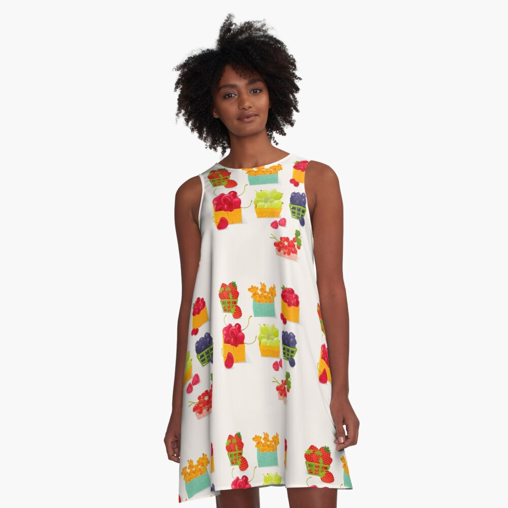Sweet Berries A-Line Dress
