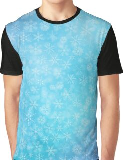 Christmas blue background with snowflakes Graphic T-Shirt